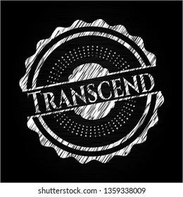 Transcend written on a chalkboard