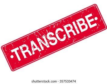 Transcribe Stamp Sign