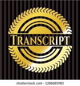 Transcript gold emblem