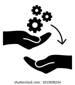 Transferring skill. Glyph icon learning methods