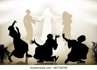 Transfiguration Of Jesus on the mountain.