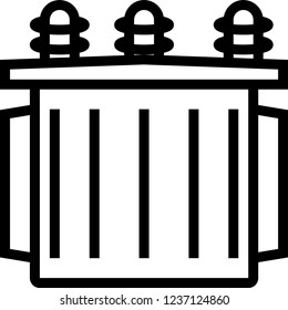 Transformer - electrical sub station icon