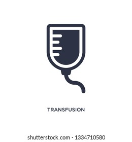 transfusion icon. Simple element illustration from medical concept. transfusion editable symbol design on white background. Can be use for web and mobile.