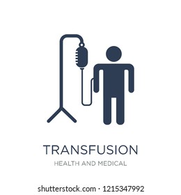 Transfusion icon. Trendy flat vector Transfusion icon on white background from Health and Medical collection, vector illustration can be use for web and mobile, eps10