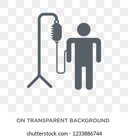 Transfusion icon. Trendy flat vector Transfusion icon on transparent background from Health and Medical collection.