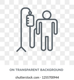 Transfusion icon. Trendy flat vector Transfusion icon on transparent background from Health and Medical collection. High quality filled Transfusion symbol use for web and mobile