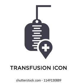 Transfusion icon vector isolated on white background for your web and mobile app design, Transfusion logo concept