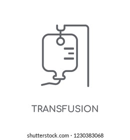 Transfusion linear icon. Modern outline Transfusion logo concept on white background from Health and Medical collection. Suitable for use on web apps, mobile apps and print media.