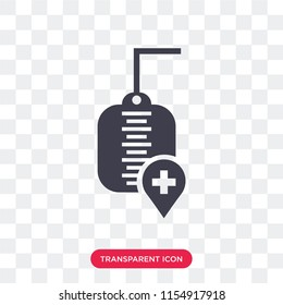 Transfusion vector icon isolated on transparent background, Transfusion logo concept