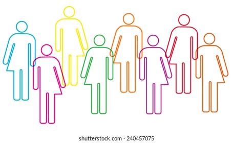 A transgender diversity banner illustration