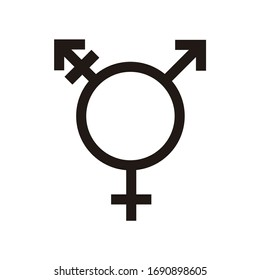 Transgender flat icons. Pictogram vector illustration.