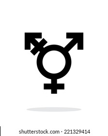 Transgender icon on white background. Vector illustration.