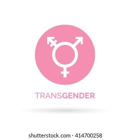 Transgender icon. Pink lgbt transgender symbol on white background. Vector illustration.