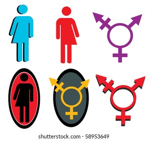 Transgender icons vectors