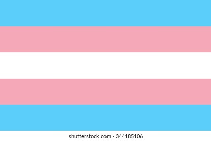 Transgender pride flag in vector format.