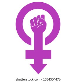 Transgender resist symbol. Transgender raised fist right hand vector illustration isolate on white background.
