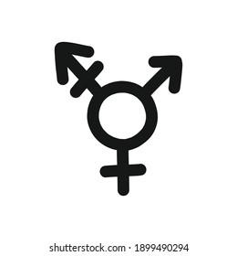 transgender symbol doodle icon, vector illustration