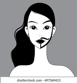 Transgender symbol Half man half woman Logo Vector