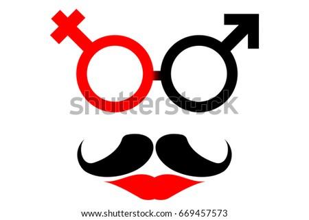 Transgender Symbol Merger Male Female Sex Stockvector Rechtenvrij