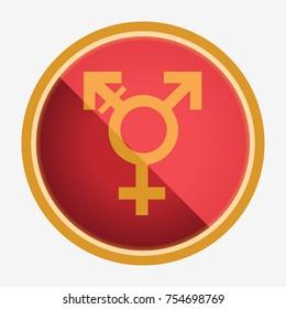 Transgender symbol. Neutral gender. Flat vector illustration