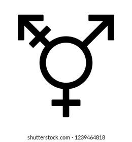 Transgender / trans or gender dysphoria symbol flat vector icon for apps and websites