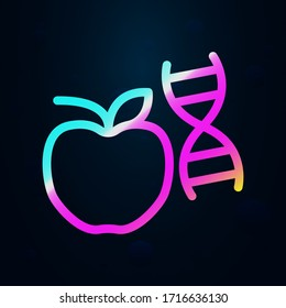 Transgenic, apple, dna nolan icon. Simple thin line, outline vector of bioengineering icons for ui and ux, website or mobile application