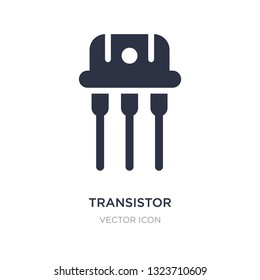 transistor icon on white background. Simple element illustration from Technology concept. transistor sign icon symbol design.