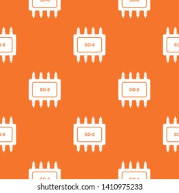Transistor microchip pattern vector orange for any web design best