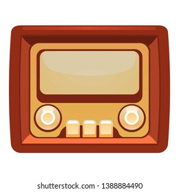 Transistor radio icon. Cartoon of transistor radio vector icon for web design isolated on white background