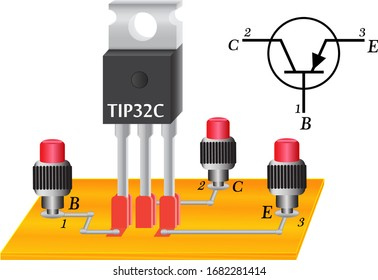 A transistor is a semiconductor radio element that is widely used in radio engineering, in modern television technology. Powerful transistor with pnp junction