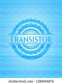 Transistor water concept emblem background.
