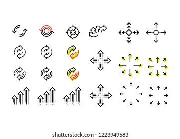 transition icon, vector line illustration