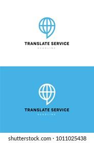 Translate service logo template.