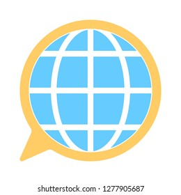translation icon- translation isolated, international speech illustration - Vector translation