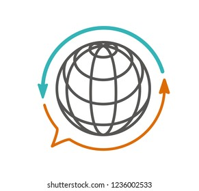 translation icon vector. translator, language