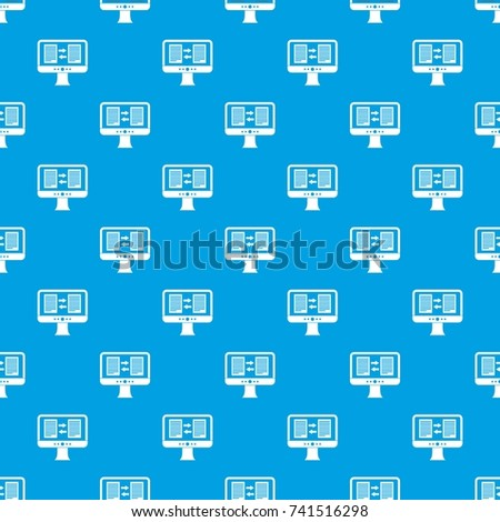 Translator App On Screen Computer Pattern Stock Vector (Royalty Free