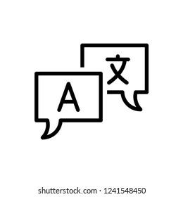 Translator sign icon vector