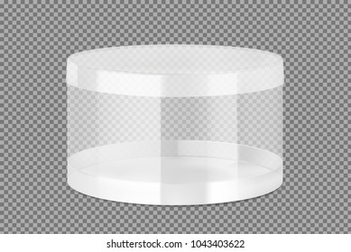 Translucent plastic jar. Vector illustration on transparent background. Layered file, easy to use for food, gifts, candy. EPS10.