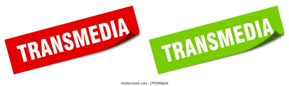 transmedia paper peeler sign set. transmedia sticker