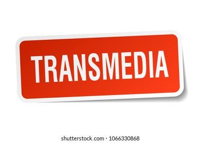 transmedia square sticker on white