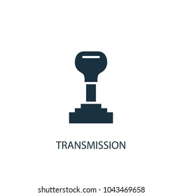 Transmission icon. Simple element illustration. Transmission concept symbol design from car service collection. Can be used for web and mobile.