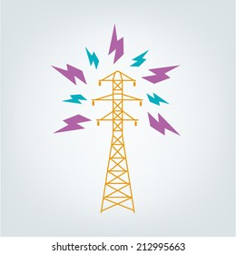Transmission Tower Icon concept. Vector EPS10.