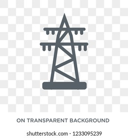 Transmission tower icon. Transmission tower design concept from Industry collection. Simple element vector illustration on transparent background.