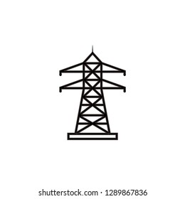 Transmission tower icon vector