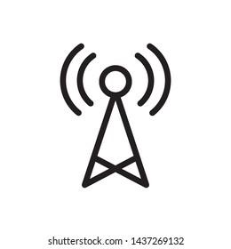 Transmitter Antenna Signal icon vector design template
