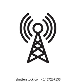 Transmitter Antenna Signal icon vector design template