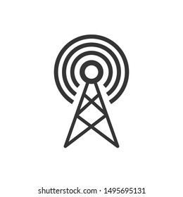 Transmitter Antenna Signal Icon Vector Illustration