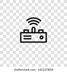 transmitter icon from crime collection for mobile concept and web apps icon. Transparent outline, thin line transmitter icon for website design and mobile, app development