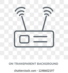 Transmitter icon. Transmitter design concept from Communication collection. Simple element vector illustration on transparent background.