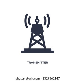 transmitter icon. Simple element illustration from communication concept. transmitter editable symbol design on white background. Can be use for web and mobile.
